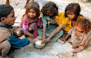 Children share